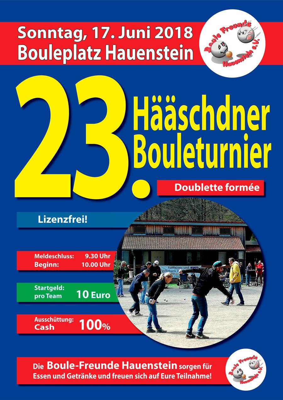 Hääschdner Boule-Turniere